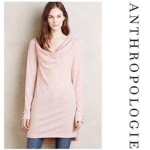 Anthropology Pink Jersey Tunic Dress